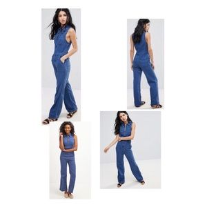 Free People 'Wind and More' Chambray Jumpsuit
